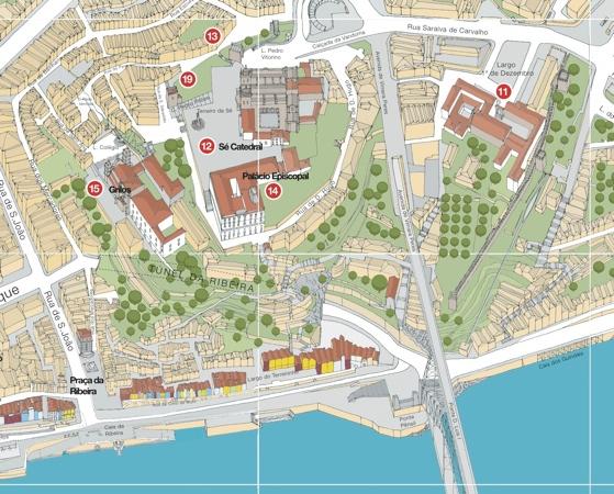 mapa turistico porto Mapa Turístico do Porto mapa turistico porto